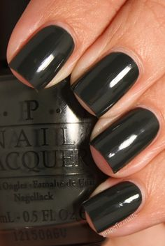My favorite.... glossy black nails... perfect length - perfect shape