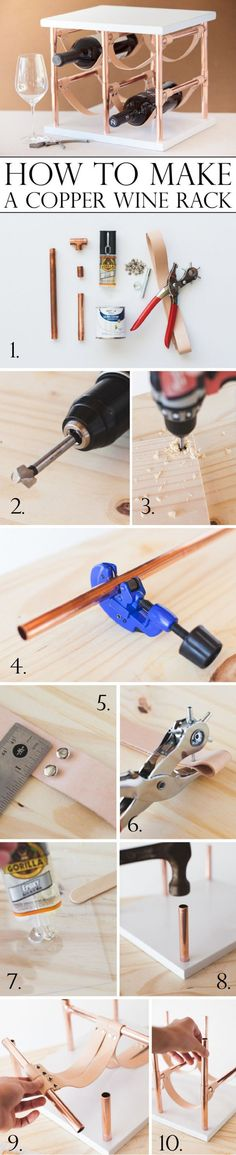 Check out how to make an easy DIY copper wine rack @istandarddesign