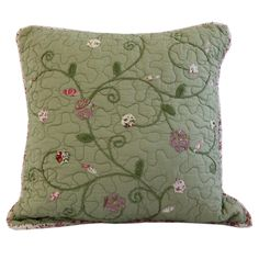Victorian Crochet Cotton Throw Pillow