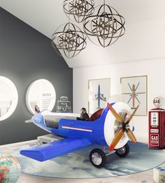 Discover the Sky One Plane bed, perfect for being the statement piece of furniture in a plane themed bedroom decoration.