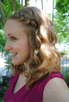 Love Your Curls // Braided curly hair via Style Me Thrifty #loveyourcurls