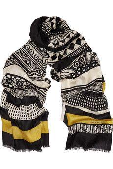 Etro Printed cashmere scarf | NET-A-PORTER