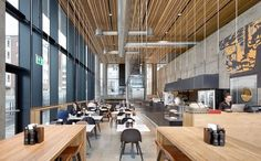 View the full picture gallery of Hamar Culturehouse Book Cafe, Hotel Lobby, Norway, Interior Design, Architecture, Gallery, Building, House, Furniture