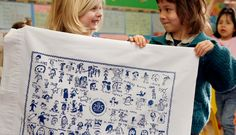 FUNdraising Idea...Portrait Press...this is really cool because it's created by the children in the classroom throughout the year.  Then they make a collage at the end of the year and screen print it to fabric anything!