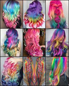 Cute Hair Colors, Pretty Hair Color, Beautiful Hair Color, Hair Color Purple, Hair Dye Colors, Exotic Hair Color, Unicorn Hair Color, Hair Colour Design, Creative Hair Color