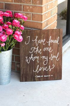 Rustic Wooden Wedding Sign - Keepsake Sign - Bible Verse Sign Wedding inspiration and ideas here: www.weddingideastips.com