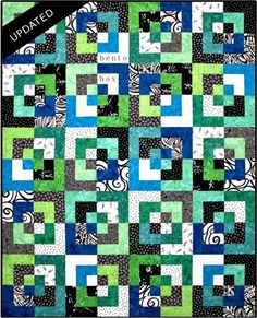 Bento Box Pattern is another quilt using fat quarters or 2 1/2 ... : bento box quilt instructions - Adamdwight.com