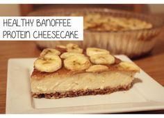 Healthy Banoffee Protein Cheesecake {Gluten-Free, Refined Sugar-Free} www.myglutenfreegluttony.com