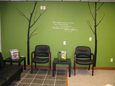 chiropractic office design pictures | Laura sent us two pics. One of her fun clocks with city names over ...
