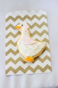 Cute cookies at a Mother Goose birthday party! See more party planning ideas at CatchMyParty.com!