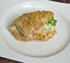 Skinny Broccoli and Cheese Stuffed Chicken using The Laughing Cow Cheese and cooked broccoli!!