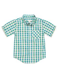 Pumpkin Patch - shirts - check short sleeve shirt - - deep peacock - 5 to 12 Boys Clothes Online, Pumpkin Patch Outfit, Patch Shop, Summer 2015, Peacock, Kids Outfits, Men Casual, Deep, Sleeve