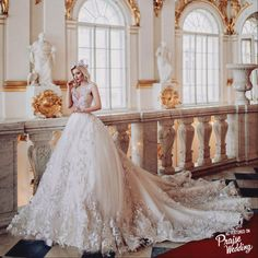 We are head over heels in love with this laced ball gown from Malyarova Olga!