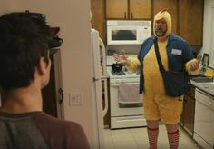 Watch what happens when Dude Dad Taylor Calmus and wife confront an unexpected guest.