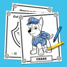 Free Printable PAW Patrol Coloring Pages are fun for kids of all ages! You'll go crazy for these printable PAW Patrol coloring sheets! Paw Patrol Games, Paw Patrol Badge, Paw Patrol Party Favors, Insignia De Paw Patrol, Escudo Paw Patrol, Cumple Paw Patrol, Paw Patrol Coloring Pages, Paw Patrol Birthday, Colouring Pages