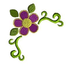 Flower Corner 3 - 4 Sizes! | Borders | Machine Embroidery Designs | SWAKembroidery.com