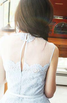 Pale blue lace dress