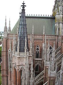 View of the lateral buttressing Cathedral of La Plata Argentine Buenos Aires, Cathedral Basilica, Temple, Old Churches, Largest Countries, Christian Church, Chapelle, Place Of Worship, Best Hotels