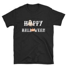 Happy Halloween Gohst And Jack-o'-lantern Spooky Short-Sleeve Unisex T-Shirt Jack O, Happy Halloween, Lanterns, Tee Shirts, Unisex, Trending Outfits, Mens Tops, Etsy Shop, Shopping