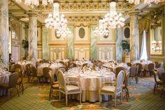 Elegant Washington DC Wedding at The Willard - floral design: Loda Floral Design; wedding reception idea