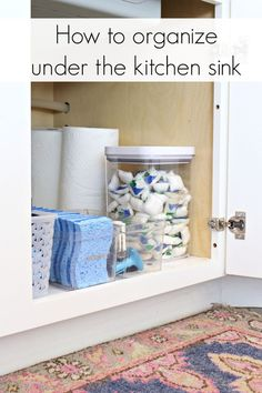 Under the Sink Kitchen Cabinet Organization Ideas - www.classyclutter.net