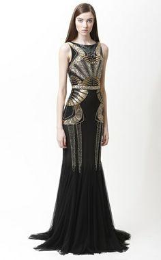 !920's | Badgley Mischka | #Gatsby #Glam | Evening Dress | #Deco