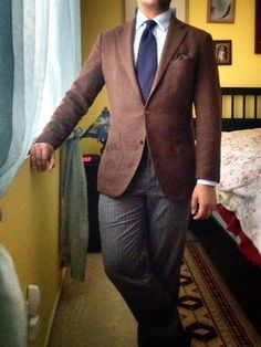 Wool-cashmere jacket by Caruso. Silk-wool herringbone tie by Drake's, courtesy of Gentlemen's Footwear. Barely-there silk-wool Kelim print square by Drake's. MTM wool-cashmere herringbone trousers, by Panta—Styleforum 10th Anniversary contest prize.