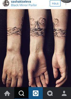 Black and white tattoo: Sailboat - travel tattoo idea