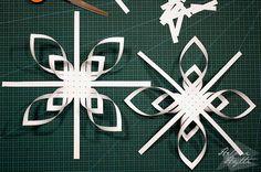 diy-3d-paperiset-lumihiutaleet Christmas Star, Christmas Crafts, Frozen Snowflake, Snowflakes, Origami, Neon Signs, Lifestyle, Stars, Flowers