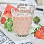 Jahodovo-melounové+smoothie