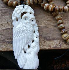 Mystical Owl, owl magick, owl totem, owl prayer beads, owl rosary, pagan prayer…