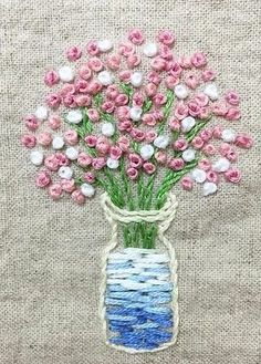 Wonderful Ribbon Embroidery Flowers by Hand Ideas. Enchanting Ribbon Embroidery Flowers by Hand Ideas. Hand Embroidery Tutorial, Simple Embroidery, Learn Embroidery, Hand Embroidery Stitches, Silk Ribbon Embroidery, Embroidery Hoop Art, Hand Embroidery Designs, Embroidery Techniques, Cross Stitch Embroidery
