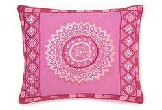 Stephan 12x16 Embroidered Pillow, Pink on OneKingsLane.com
