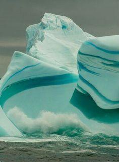 Green Striped Glacier,  Antarctica