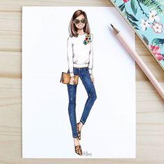 Fashion illustration by @gizemkazancigil  fashion sketch, drawing, art #sketch #fashionsketch