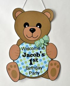 Teddy Bear Birthday Baby Shower Boy Birthday by bcpaperdesigns, $10.00
