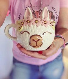 My Coffee, Coffee Cups, Animal Mugs, Freaks And Geeks, Cute Cups, Ceramic Clay, Mug Cup, Kawaii, Kitchen Gadgets