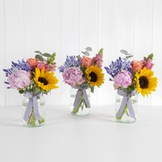 Our Summer Jam Jar Trio will brighten up 3 rooms in one go or a gorgeous dining table!