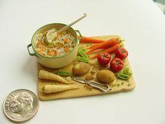 Making vegetable soup, Michelle Archer