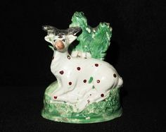 VERY RARE 18TH CENTURY OBADIAH SHERRATT STAFFORDSHIRE PEARLWARE MINIATURE FIGURE  £90