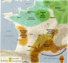 1- Néolithique ancien (5800-4600 BE) - (source : La révolution néolithique en France - INRAP La Découverte)