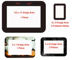 Fodeez® Reusable Self-Stick Picture Frames - Family Decorator Pack - Halloween Collection