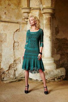 Crochet los Circulação: Vestido
