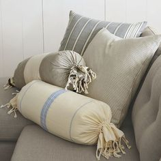 Pinstripe pillow covers from West Elm