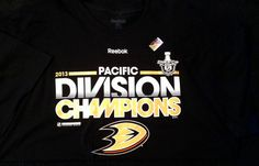 ANAHEIM MIGHTY DUCKS 2013 REEBOK PACIFIC DIVISION CHAMPIONS T-SHIRT ADULT XLARGE #Reebok #AnaheimDucks