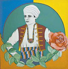 Rodolfo Valentino, por Dora Ramírez (el color no es exacto, pero bueno…) Colección del Museo de Antioquia