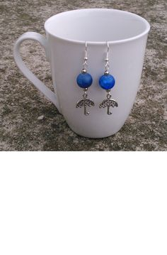 autumn is coming, so: umbrella charm earrings