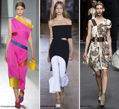 Spring/ Summer 2016 Fashion Trends: Asymmetrical Necklines  #trends #fashiontrends