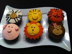 Safari Animal Cupcakes