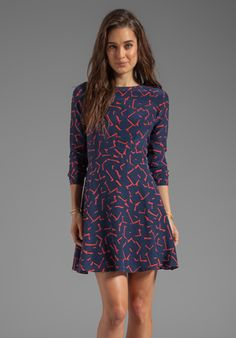 SHOSHANNA Pritzker Print Carla Dress in Modern Red/Midnight at Revolve Clothing - Free Shipping!